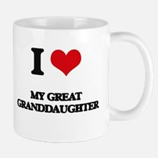 I Love My Great Granddaughter Mugs