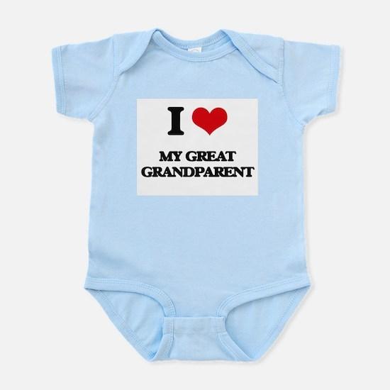 I Love My Great Grandparent Body Suit