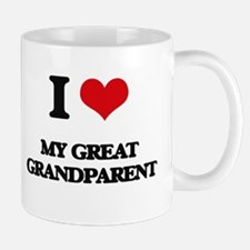 I Love My Great Grandparent Mugs