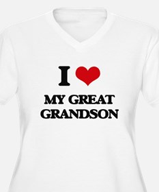 I Love My Great Grandson Plus Size T-Shirt