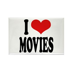 I Love Movies Rectangle Magnet (10 pack)