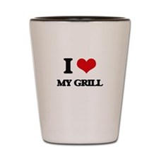 I Love My Grill Shot Glass