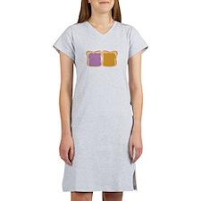 PB & J Sandwich Women's Nightshirt