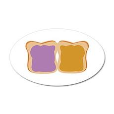 PB & J Sandwich Wall Decal