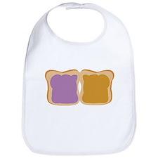 PB & J Sandwich Bib