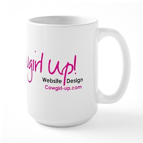 Pink!! Cowgirl Up! Website Design Large Mug