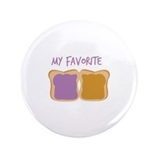 """My Favorite 3.5"""" Button (100 pack)"""