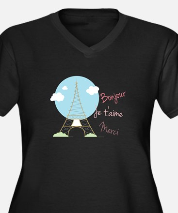 French Sayings Plus Size T-Shirt