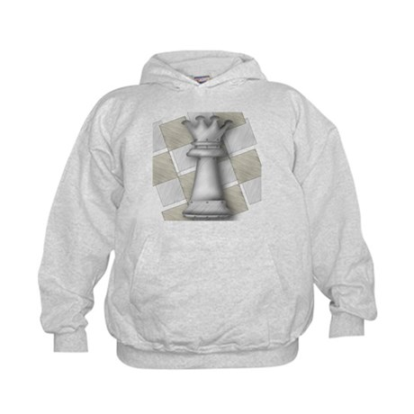 Chess The Most Poweful Piece Kids Hoodie