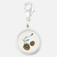 Winter Pine Cone Charms