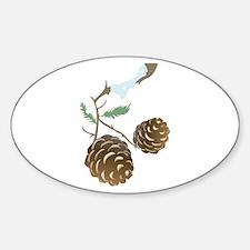 Winter Pine Cone Bumper Stickers