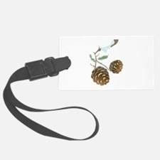 Winter Pine Cone Luggage Tag