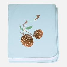 Winter Pine Cone baby blanket