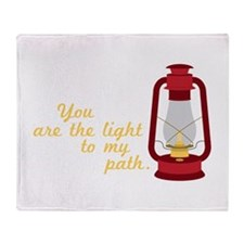 Light My Path Throw Blanket