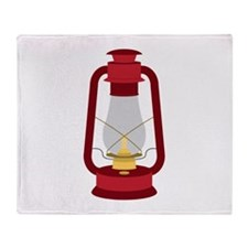 Kerosene Lamp Throw Blanket
