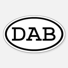 DAB Oval Oval Decal