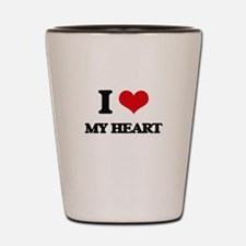 I Love My Heart Shot Glass