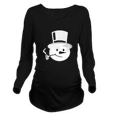 Frosty the Snowman Long Sleeve Maternity T-Shirt