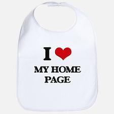 I Love My Home Page Bib