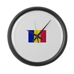 Andorra.jpg Large Wall Clock