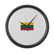 Lithuania.jpg Large Wall Clock
