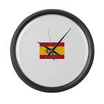 Spain.jpg Large Wall Clock
