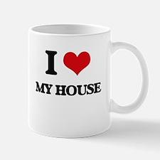 I Love My House Mugs