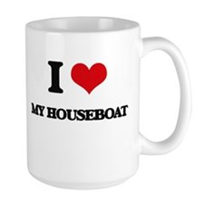 I Love My Houseboat Mugs