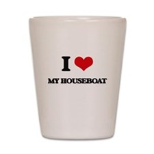 I Love My Houseboat Shot Glass