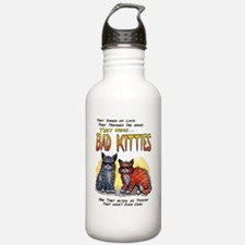 11by14badkities.psd Water Bottle