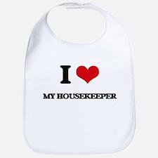I Love My Housekeeper Bib