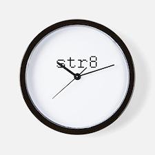 str8 - straight Wall Clock
