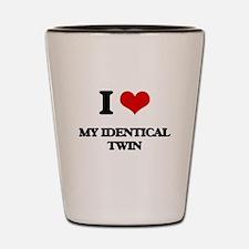 I Love My Identical Twin Shot Glass