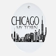 Chicago My Town Ornament (Oval)