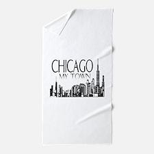 Chicago My Town Beach Towel