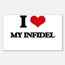 I Love My Infidel Decal