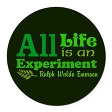 All Life Round Car Magnet