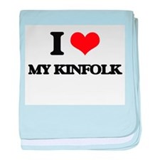 I Love My Kinfolk baby blanket