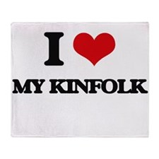 I Love My Kinfolk Throw Blanket
