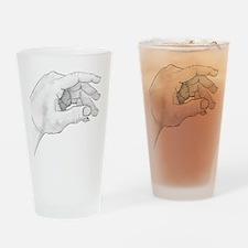 Hand Sketch Drinking Glass