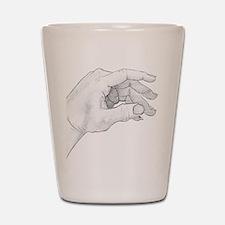Hand Sketch Shot Glass