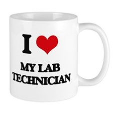 I Love My Lab Technician Mugs
