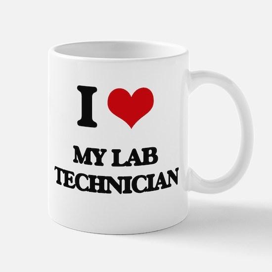 I Love My Lab Technician Mugs