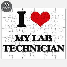 I Love My Lab Technician Puzzle