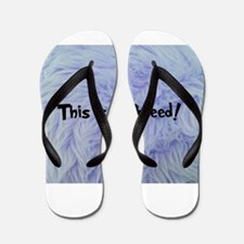 This is a Thneed! Blue - The Lorax Flip Flops