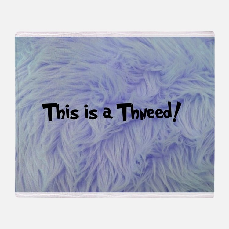 This is a Thneed! Blue - The Lorax Throw Blanket