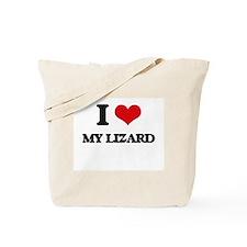I Love My Lizard Tote Bag