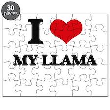 I Love My Llama Puzzle