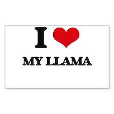 I Love My Llama Decal