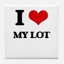 I Love My Lot Tile Coaster